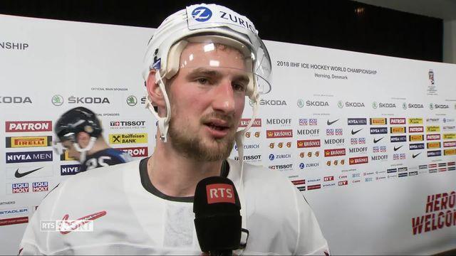 1-4 de finale, Finlande - Suisse 2-3: Scherwey à l'interview [RTS]