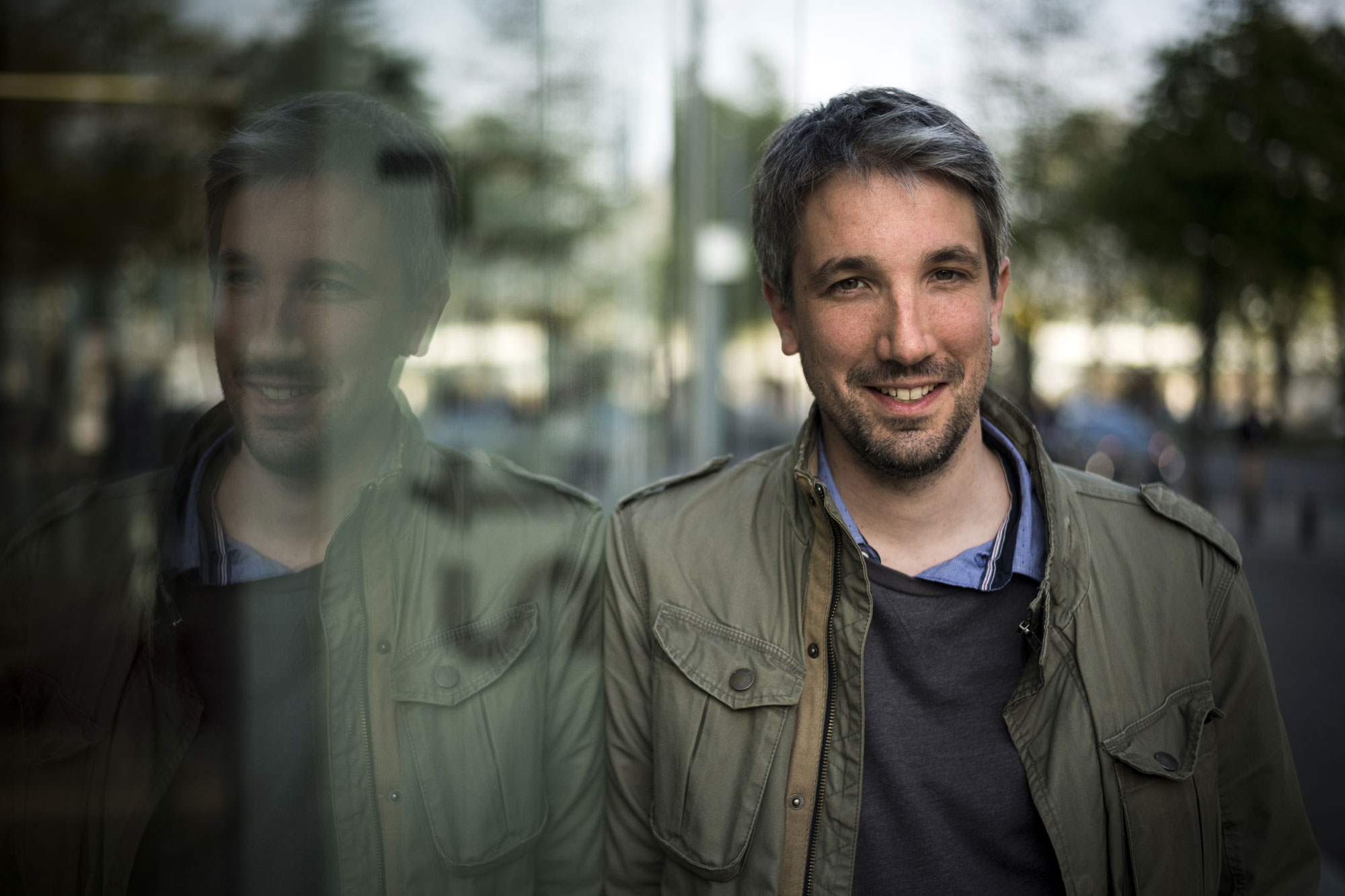 Portrait de Guillaume Meurice, à Paris, le 5 avril 2017.