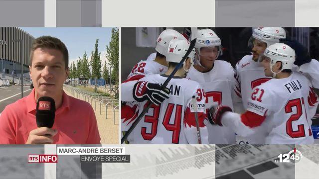 Hockey- Suisse-Canada: duplex avec Marc-André Berset [RTS]