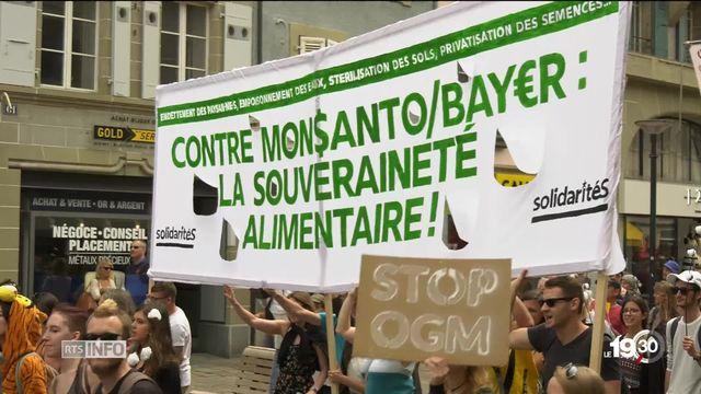 Monsanto: un millier de personnes ont manifesté à Morges pour une agriculture plus écologique [RTS]