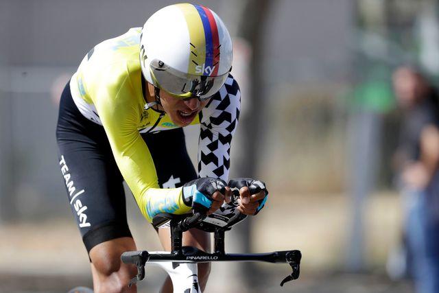 Le Colombien Egan Bernal lors de la 4e étape du Tour de Californie. [Marcio Jose Sanchez - AP Photo/Keystone]