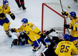 L'équipe suédoise de hockey sur glace. [Liselotte Sabroe - EPA - Keystone]
