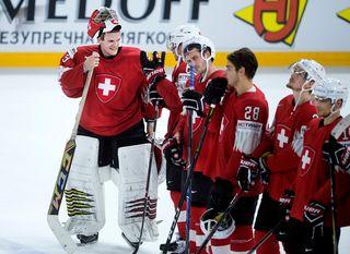 Les Suisses seront 7èmes au classement de l'IIHF. [Liselotte Sabroe - EPA/Keystone]
