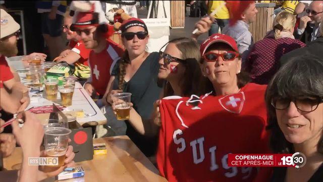 Hockey sur glace: La fièvre monte chez les supporters suisses à Copenhague [RTS]