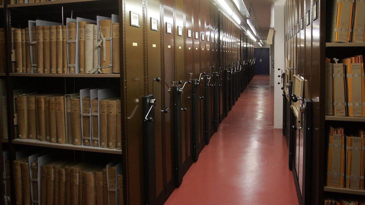 Une partie des archives fédérales à Berne. [Marcel Bieri - Keystone]