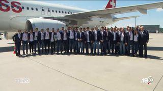 Les joueurs suisses de retour au pays après leur échec en finale du Mondial [RTS]
