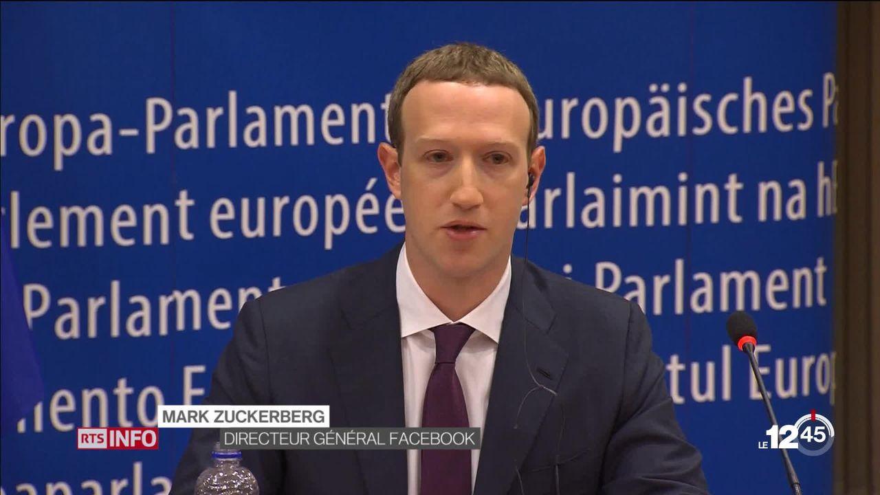 Facebook : Mark Zuckerberg présente ses excuses aux Européens, mais ne convainc pas [RTS]