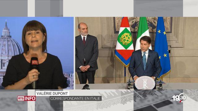 Le face à face entre deux Italie: les précisions de Valérie Dupont (2-2) [RTS]