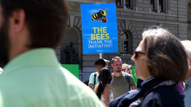 Le peuple se prononcera sans doute sur l'interdiction des pesticides de synthèse en Suisse. [Anthony Anex - Keystone]