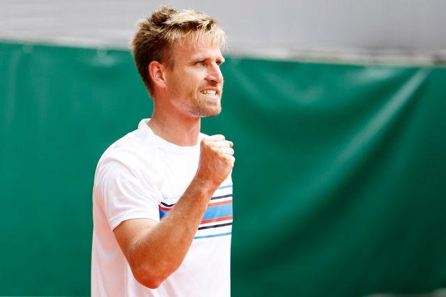 Peter Gojowczyk visera son 2e titre ATP lors de la finale à Genève [Salvatore Di Nolfi - Keystone]