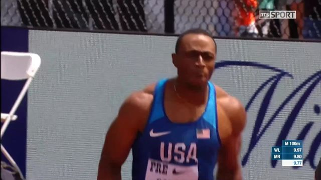 Eugene (USA), 100m messieurs: Ronnie Baker (USA) s'impose [RTS]