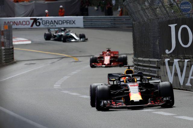 Daniel Ricciardo a mené la course de bout en bout à Monaco. [Claude Paris - Keystone]