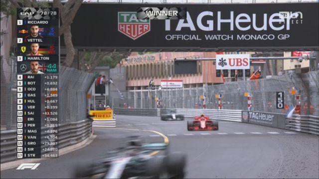 GP de Monaco (FRA): victoire de Ricciardo (AUS) devant Vettel (GER) 2e et Hamilton (GBR) 3e [RTS]