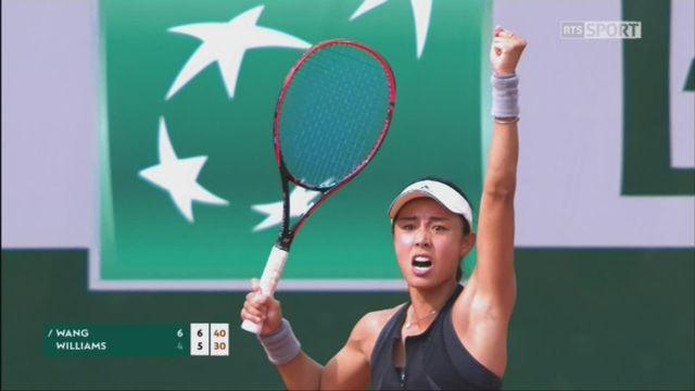 1er tour, Wang (CHN) - Williams (USA) 6-4 7-5: Venus Williams est éliminée dès le 1er tour [RTS]
