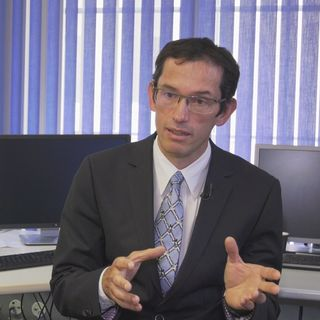 Christian Flückiger, préposé à la protection des données des cantons de Neuchâtel et du Jura. [RTS]