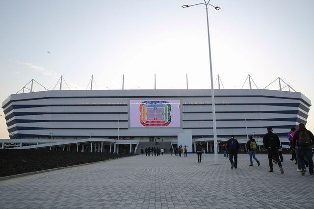 Le stade de Kaliningrad accueillera plusieurs rencontres de la Coupe du monde de football 2018. [Nikolai Kharchenko - AP/Keystone]
