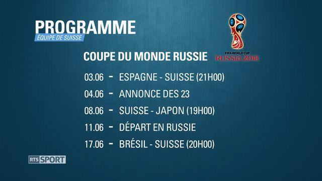 Football - Coupe du Monde: l'équipe de Suisse débute sa préparation [RTS]