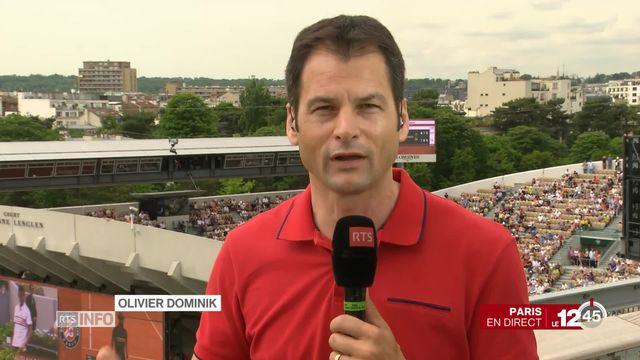 Tennis - Roland Garros: Stan Wawrinka affronte Guillermo Garcia-Lopez [RTS]