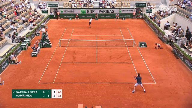 1er tour, G.Garcia-Lopez (ESP) – S.Wawrinka (SUI) 6-2, 3-6, 4-6: Wawrinka remporte le 3e set [RTS]