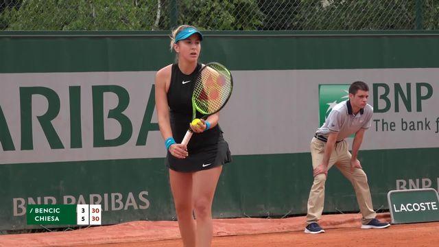 1er tour, B.Bencic (SUI) – D.Chiesa (ITA) 3-6: Belinda Bencic perd le 1er set [RTS]