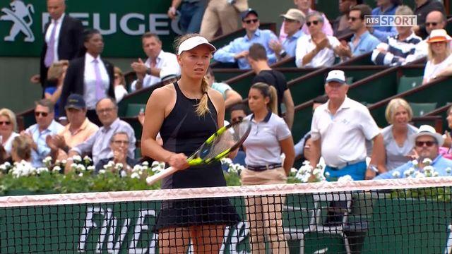 1er tour, D.Collins (USA) – C.Wozniacki (DEN) 6-7, 1-6: victoire de Wozniacki [RTS]