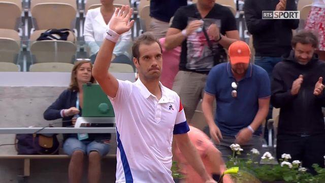 1er tour, A.Seppi (ITA) – R.Gasquet (FRA) 0-6, 2-6, 2-6: victoire rapide pour Gasquet [RTS]