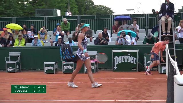 1er tour, L.Tsurenko (UKR) – S.Vögele(SUI) 4-6, 6-2, 6-2: Stefanie Vögele éliminée dès le premier tour [RTS]