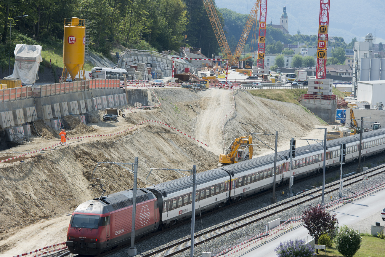 L'incident est survenu à hauteur du chantier du tunnel d'Eppenberg (SO). (Image d'illustration)