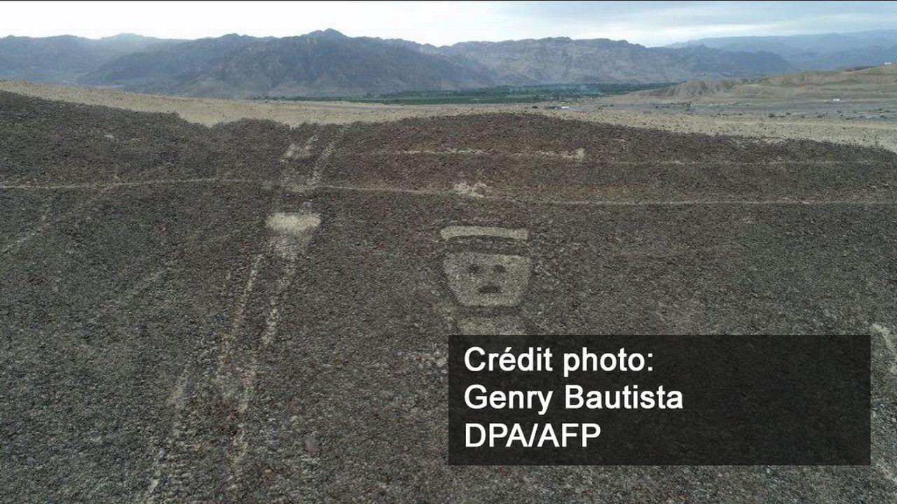 Nouveaux géoglyphes découverts au Pérou avec des drones. [Genry Bautista - DPA/AFP]