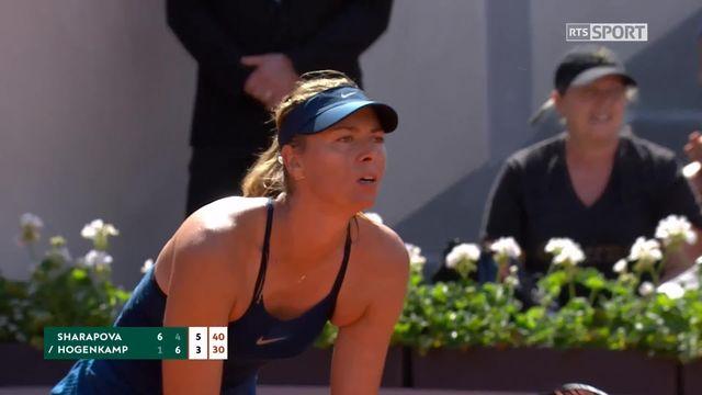 1er tour, M.Sharapova (RUS) – R.Hogenkamp (NED) 6-1, 4-6, 6-3: qualification compliquée pour Sharapova [RTS]