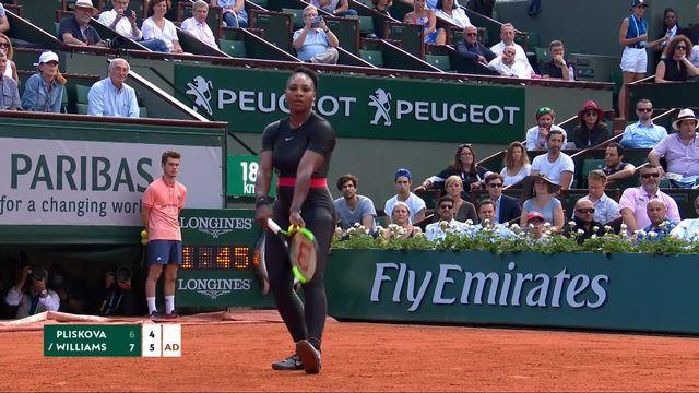 1er tour, K.Pliskova (CZE) – S.Williams (USA) 6-7, 4-6: victoire accrochée pour Serena [RTS]