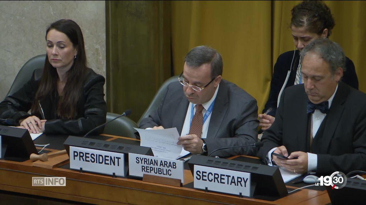 GE: des pays dénoncent la présidence syrienne de la Conférence du désarmement à l'ONU [RTS]