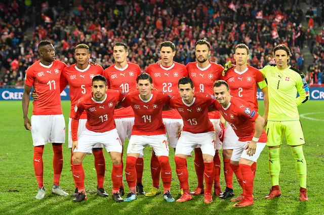 L'équipe nationale suisse de football à Bâle le 12 novembre 2017. [Georgios Kefalas - Keystone]