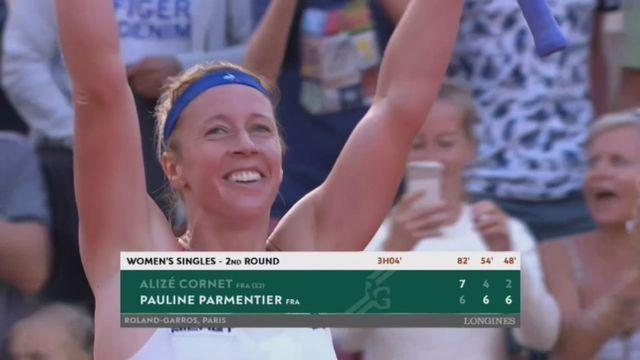 2e tour, A.Cornet (FRA) – P.Parmentier (FRA) 7-6, 4-6, 2-6: Pauline Parmentier qualifiée [RTS]