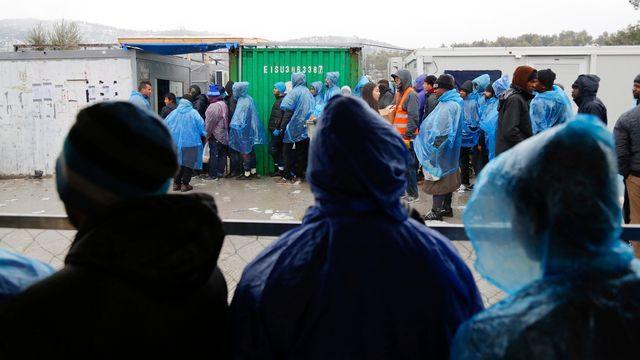 Le camp de Moria, sur l'île égéenne de Lesbos. [Petros Tsakmakis - InTime News/AP/Keystone]