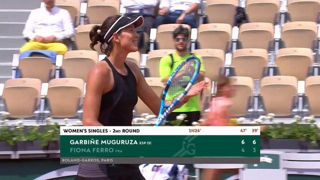 2e tour, G.Muguruza (ESP) – F.Ferro (FRA) 6-4, 6-3: Muguruza qualifiée pour le 3e tour [RTS]