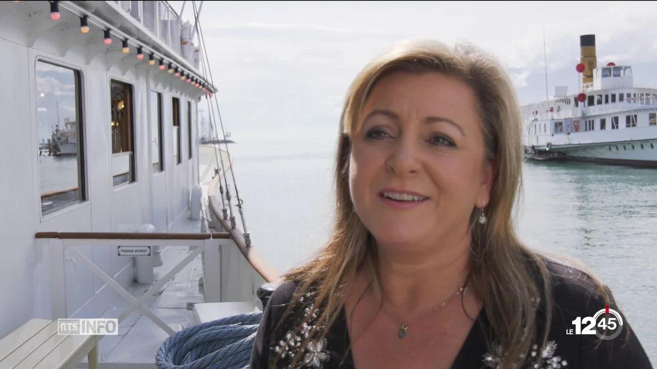 Nouveau bateau de la CGN en 2020 Lausanne-Evian: le mot de Nuria Gorrite, conseillère d'Etat vaudoise [RTS]