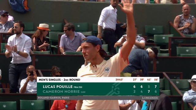 2e tour, L.Pouille (FRA) – C.Norrie (GBR) 6-2, 6-4, 5-7, 7-6: Pouille qualifié en 4 manches [RTS]