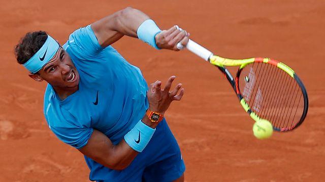 Rafal Nadal n'a pas tremblé face à l'Argentin. [Michel Euler - Keystone]