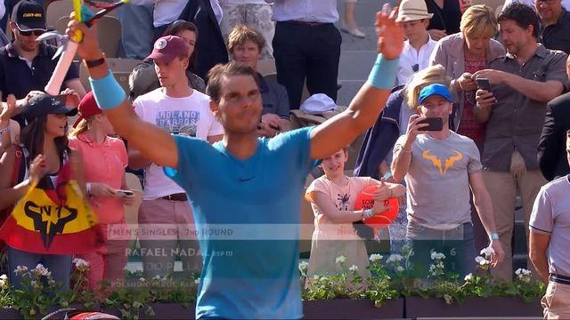 2e tour, R.Nadal (ESP) – G.Pella (ARG) 6-2, 6-1, 6-1: victoire aisée de Nadal [RTS]