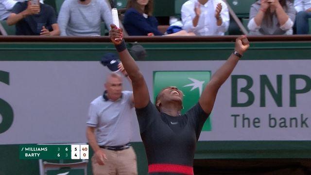 2e tour, S.Williams (USA) – A.Barty (AUS) 3-6, 6-3, 6-4: Serena se qualifie pour le 3e tour [RTS]