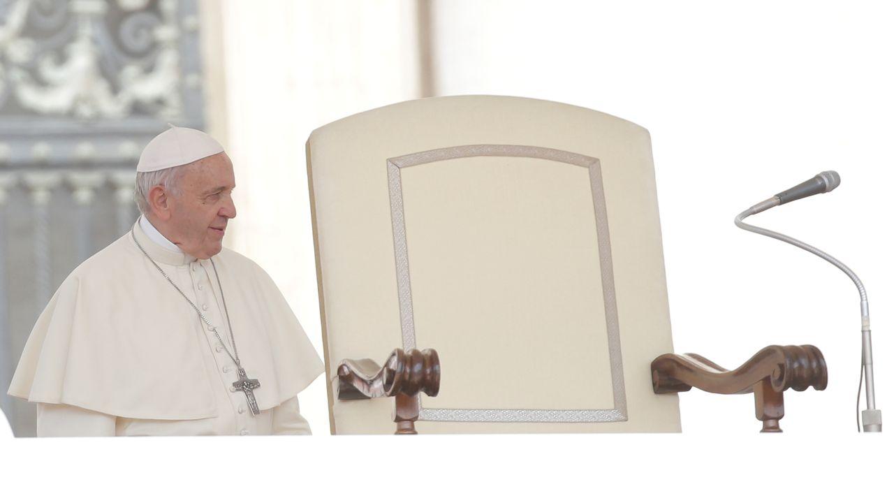 Le pape François, photographié ici le 30 mai 2018 au Vatican. [Max Rossi - Reuters]