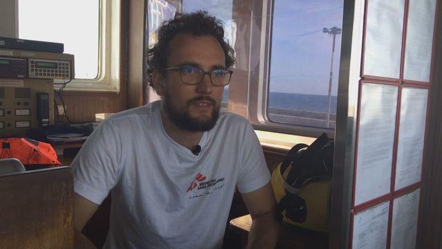 Aloys, coordinateur à bord de l'Aquarius [RTS]