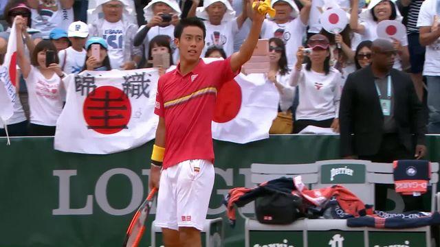 3e tour, K.Nishikori (JPN) – G.Simon (FRA) 6-3, 6-1, 6-3: Nishikori passe en 3 sets contre Gilles Simon [RTS]