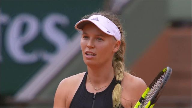 3e tour, P.Parmentier (FRA) – C.Wozniacki (DEN) 0-6, 3-6: victoire facile pour Wozniacki [RTS]