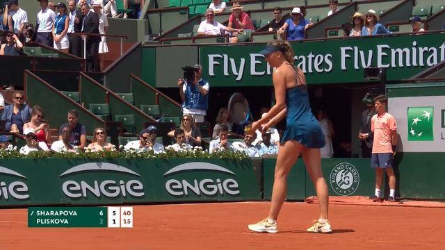 1-16, M.Shrarapova (RUS) - K.Pliscova (CZE) 6-2, 6-1: victoire facile de la Russe [RTS]