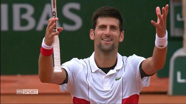 Djokovic affrontera Verdasco en huitième de finales à Roland Garros. [RTS]
