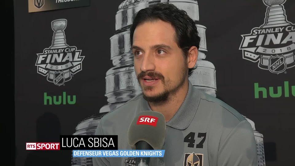 Hockey: interview de Luca Sbisa, qui participe à la finale de NHL avec les Golden Knights [RTS]