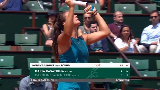 1-8, Daria Kasatkina (RUS) - Caroline Wozniacki (DEN) 7-6, 6-3: Kasatkina élimine la numéro 2 mondial [RTS]