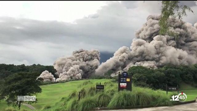 Guatemala: l'éruption du Volcan de Fuego entraîne l'évacuation de milliers de personnes [RTS]